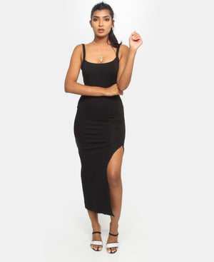 Strappy Casual Dress - Black