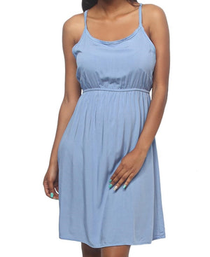Strappy Casual Dress - Blue