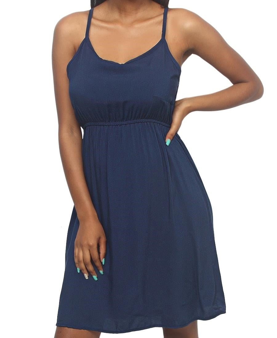 Strappy Casual Dress - Navy