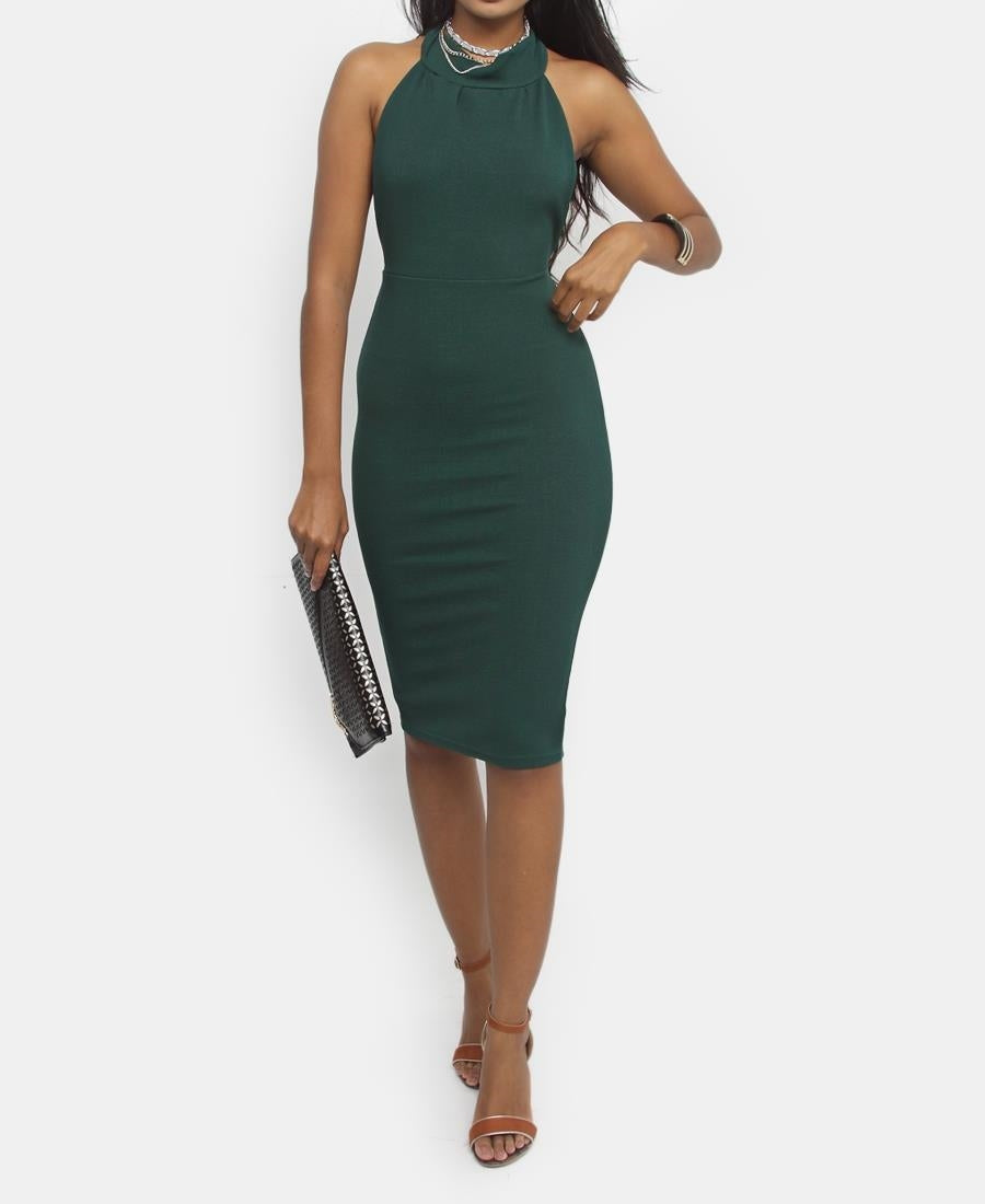 Backless Dress - Olive
