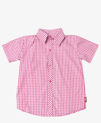 Boys Check Shirt - Pink
