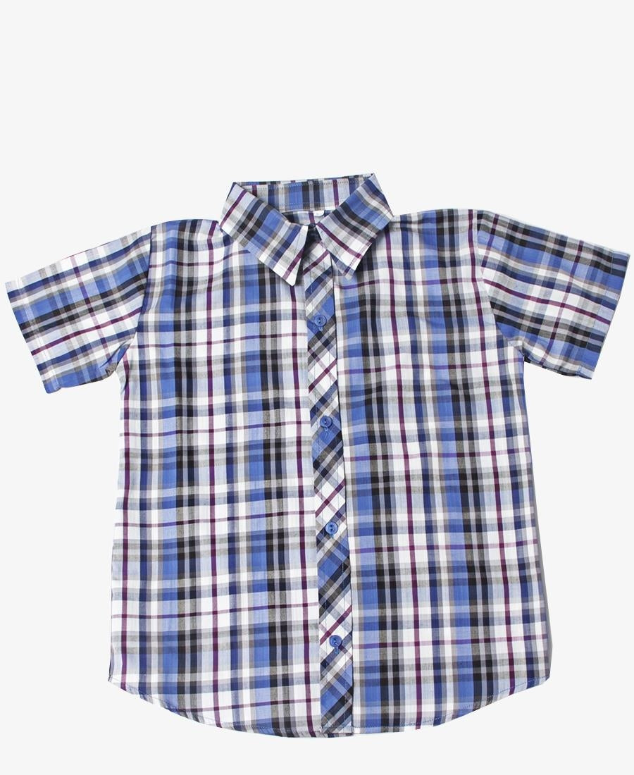 Boys Check Shirt - Blue