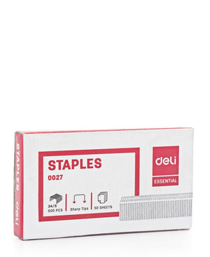 500 Piece 24/8 Staples - Red