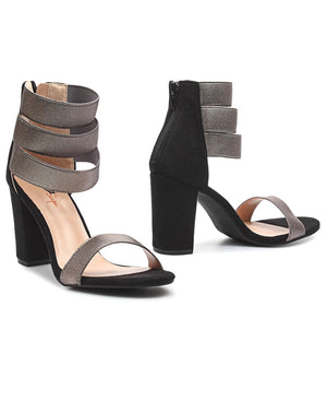 Block Heels - Pewter