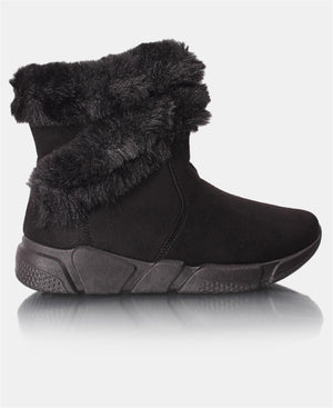 Ladies' Fur Boots - Black