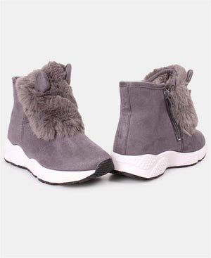 Ladies' Ankle Boots - Grey