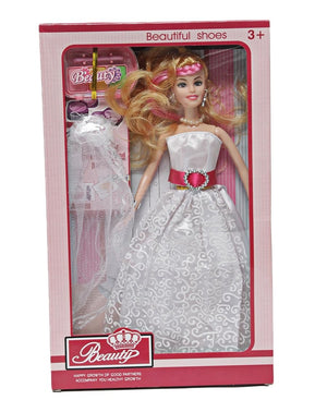 Wedding Dress Doll - White