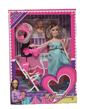Happy Family Doll Set - Teal