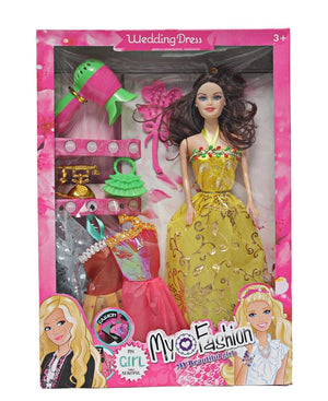 Fashion Doll Set - Yellow