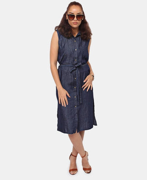 Denim Dress - Navy