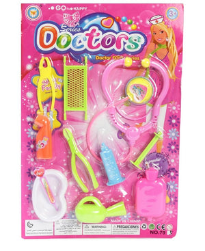 Kids Play Doctor Set - Pink