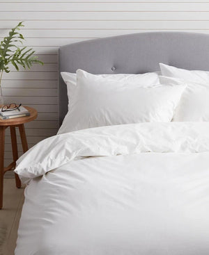 Horrockses 180 Thread Count Duvet Cover - White