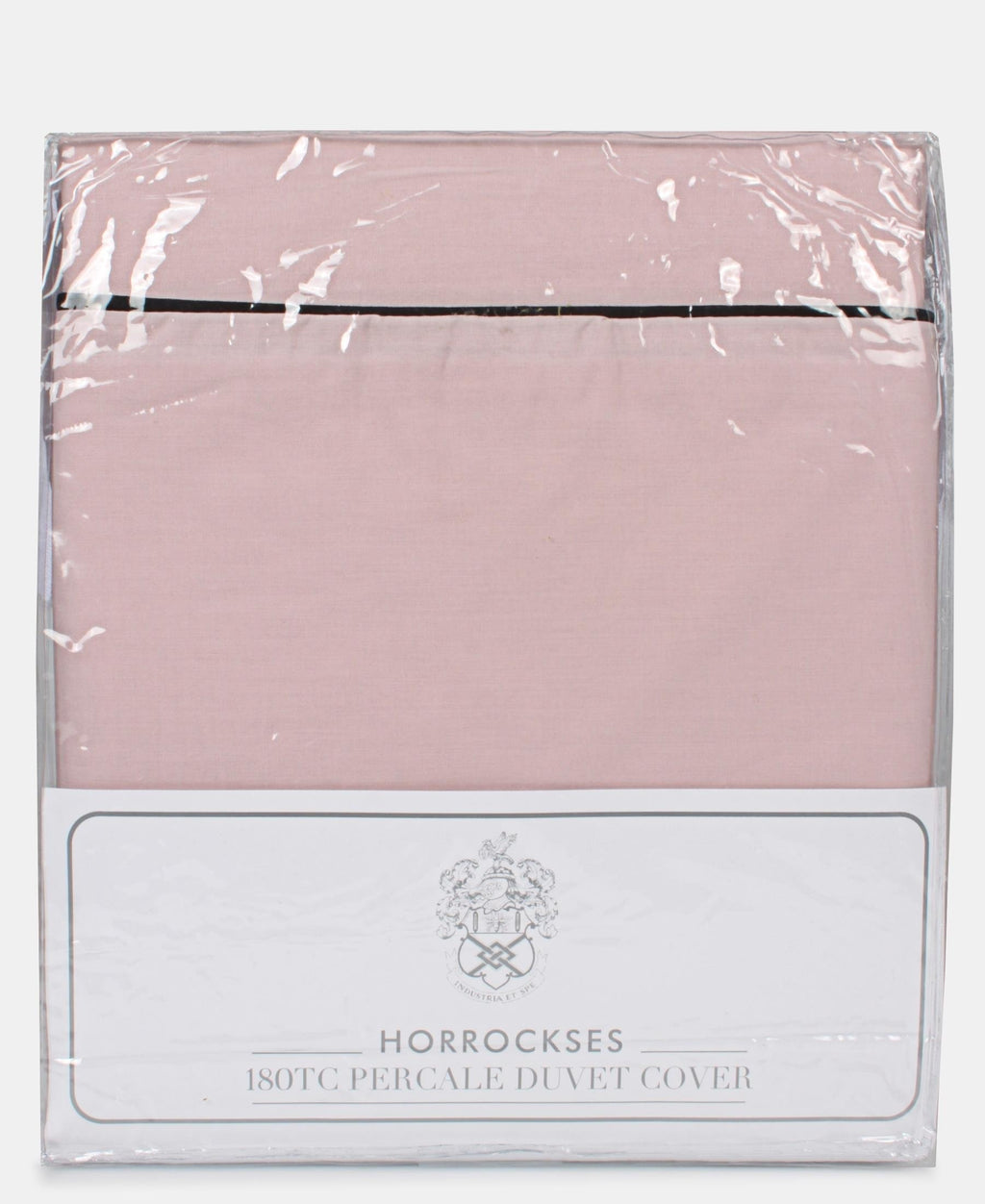 Horrockses 180 Thread Count Duvet Cover With Embellishment - Dusty Pink