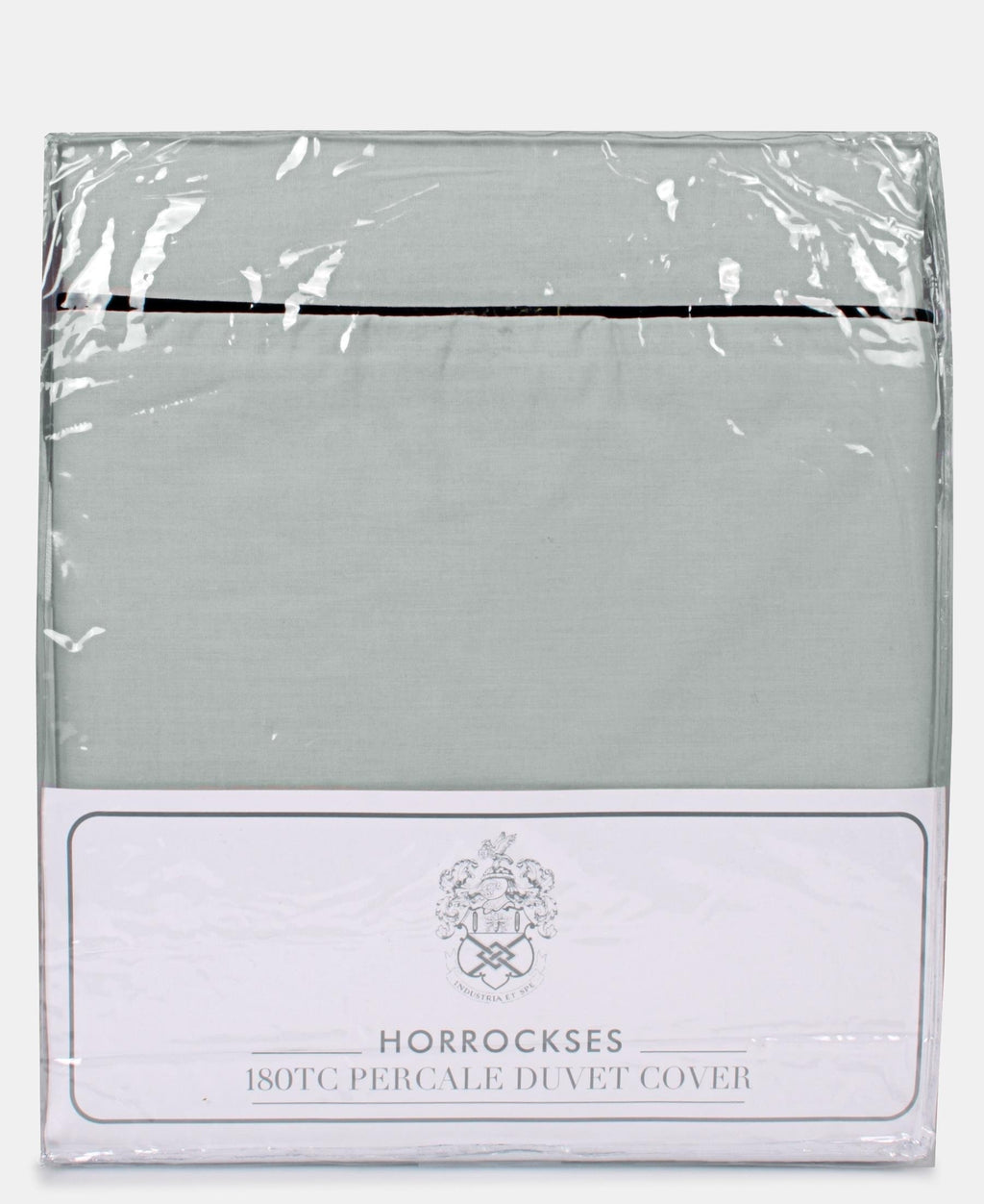 Horrockses 180 Thread Count Duvet Cover With Embellishment - Duck Egg