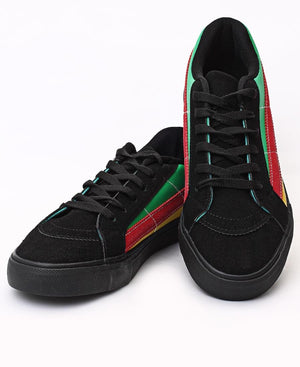 Men's Casual Sneakers - Black-Red