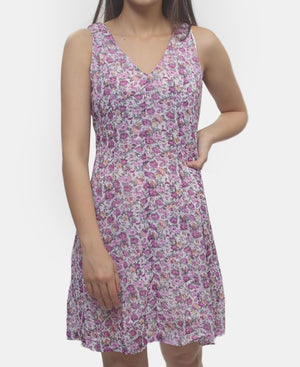 Chiffon Dress - Purple