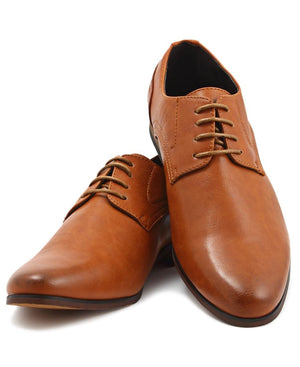 Lace Up Shoe - Tan