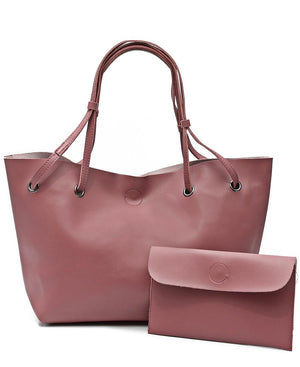 2 Piece Shopper Bag - Pink