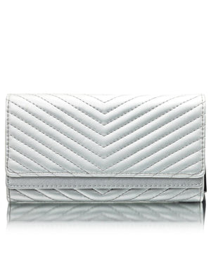 Quilted Wallet - Silver