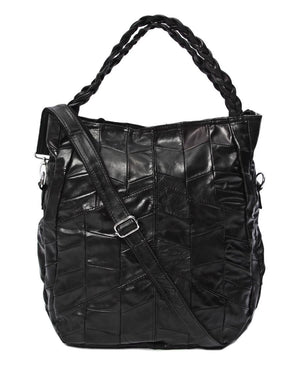 Leather Quilt - Black