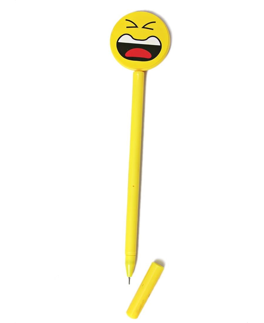 Emoji Face Pen - Yellow
