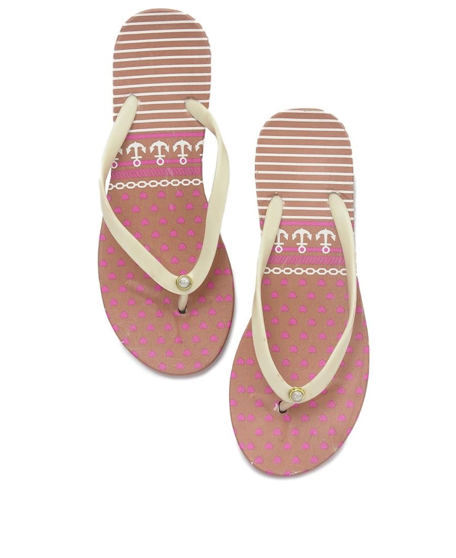 Ladies' Flip Flops - Beige
