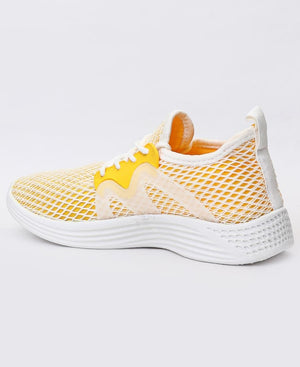Ladies' Casual Sneakers - Yellow