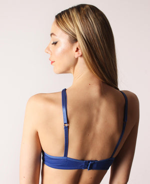 Balconette Bra - Blue