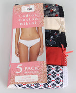 Ladies' 5 Pack Cotton Bikini - Multi