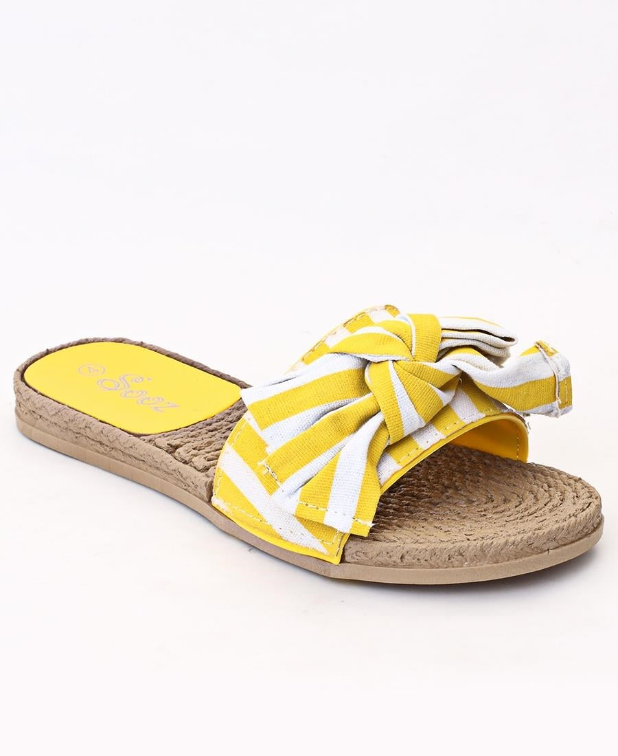 Slip On Sandals - Yellow