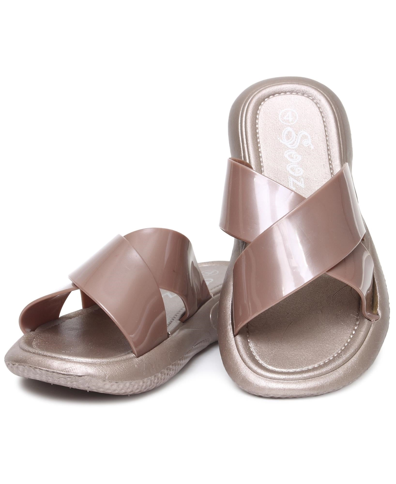 Crossover Sandals - Rose Gold