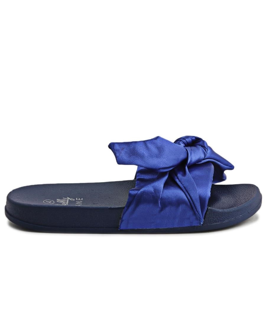 Ribbon Bow Sandals - Blue