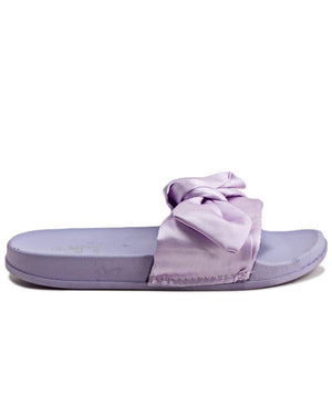 Ribbon Bow Sandals - Purple