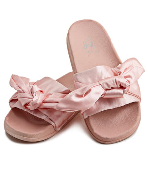 Ribbon Bow Sandals - Pink