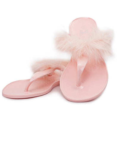 Fur Jelly Slippers - Mink
