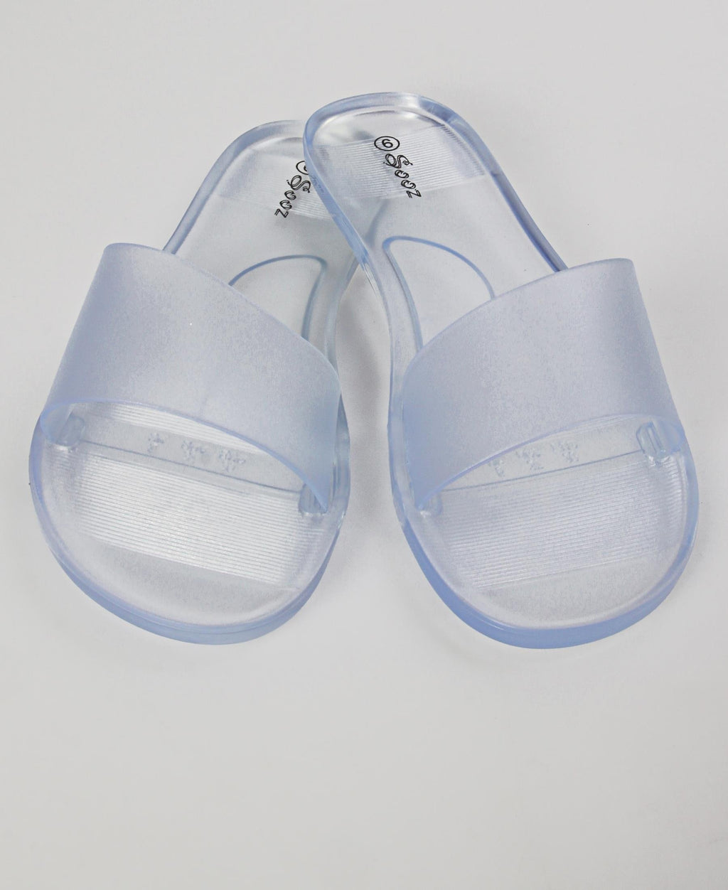 Slip On Flat Sandals - Clear