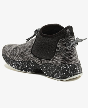 High Top Sneakers - Silver