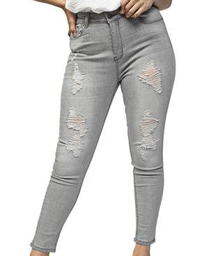 Ripped Jeans - Grey