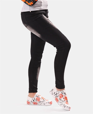 Ripped Washed Skinny Jeans - Black