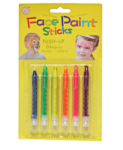 6 Piece Face Paint - Yellow
