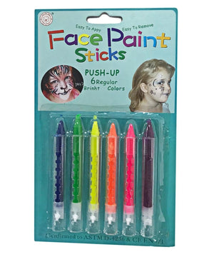 6 Piece Face Paint - Blue