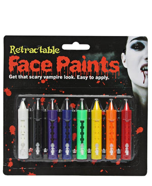 8 Piece Face Paint - Black