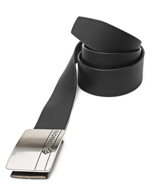 Leather Buckle Belt - Black