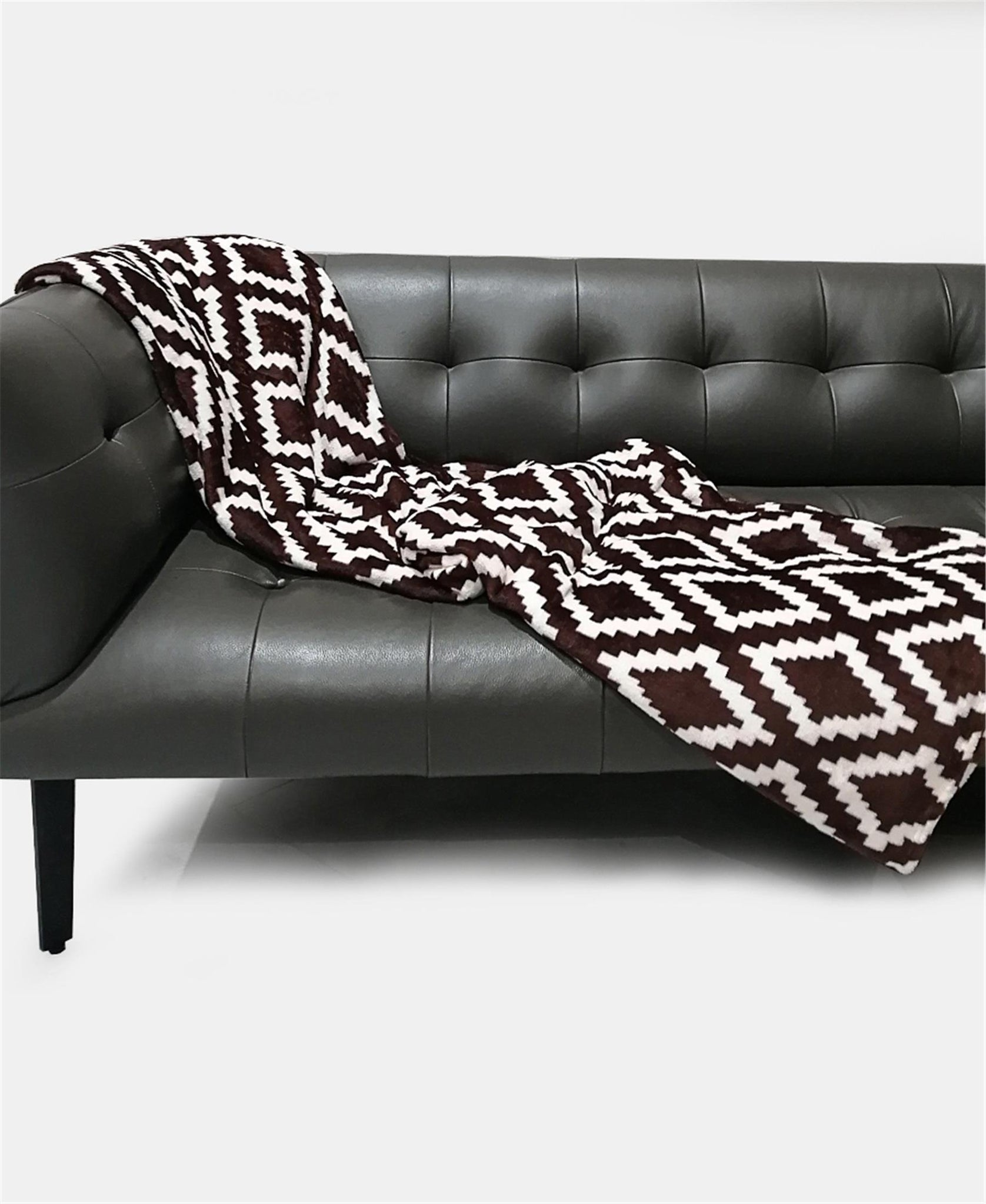 200X230cm Flannel Throw - Brown