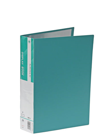 20 Pocket Flip File - Green