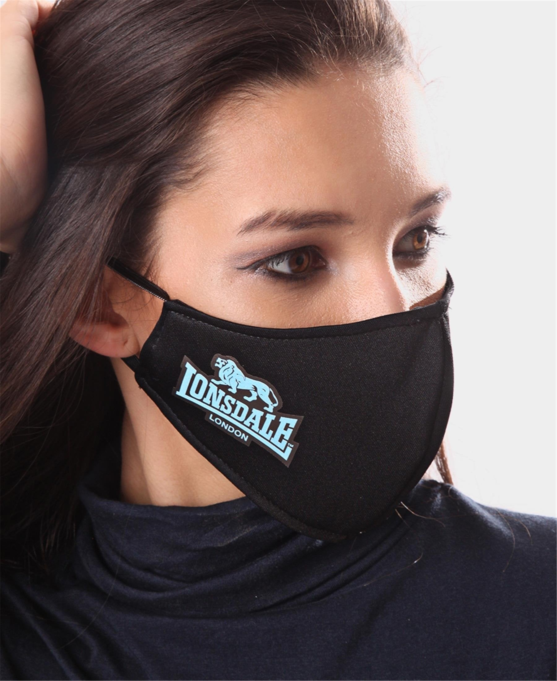 Printed 3 Ply Scuba Mask - Blue