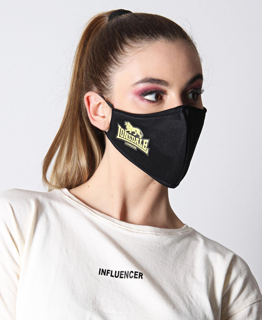 Printed 3 Ply Scuba Mask - Yellow