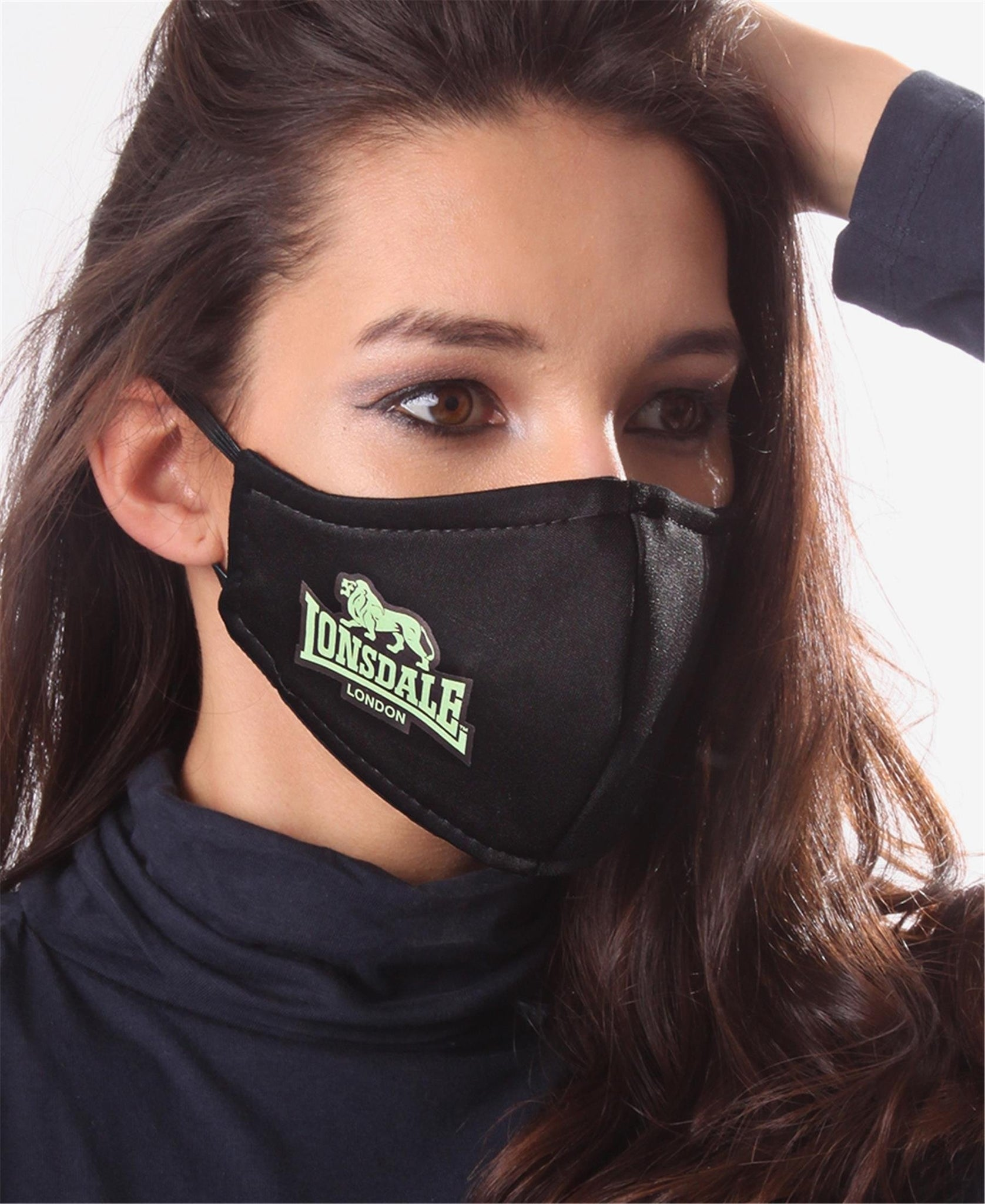 Printed 3 Ply Scuba Mask - Green