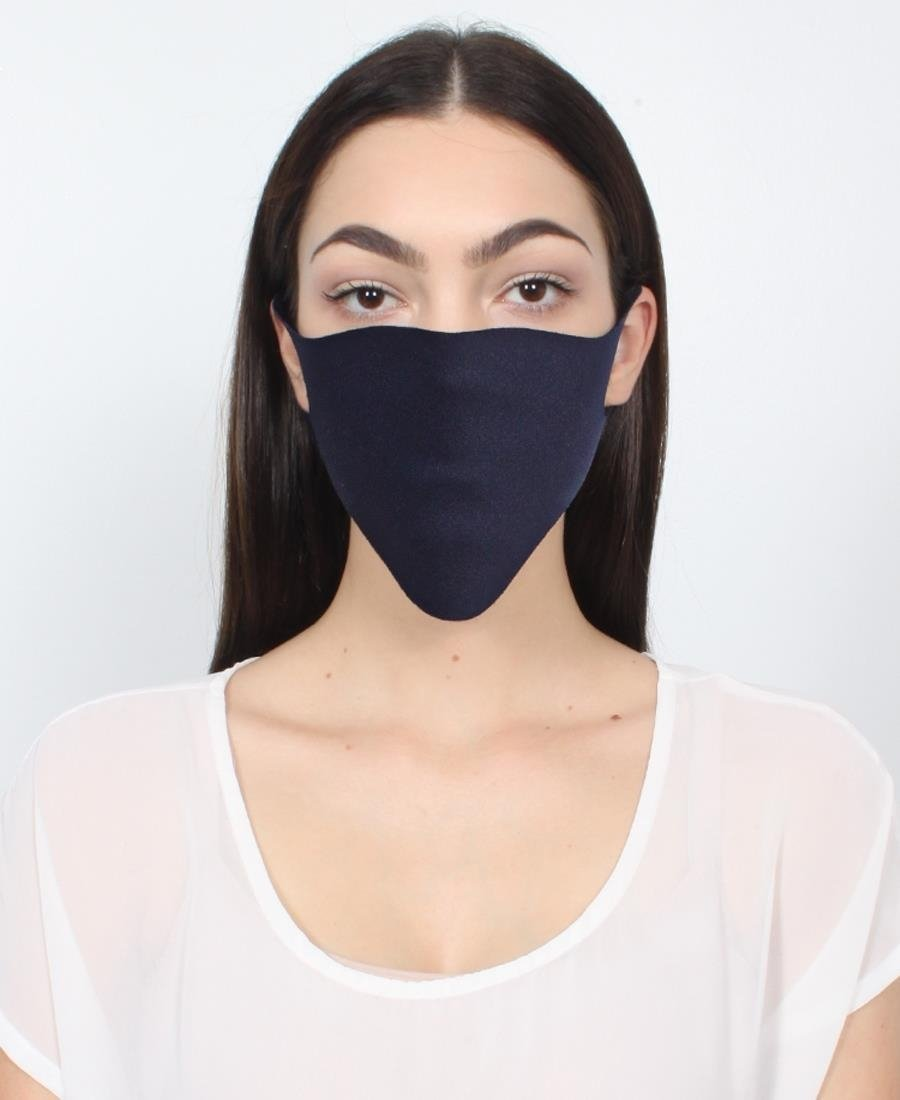 3 Pack Single Ply Reusable Face Mask - Navy