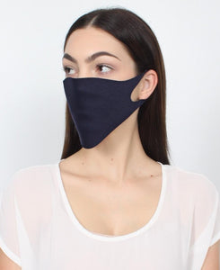 100 Pack Single Ply Reusable Face Mask - Navy
